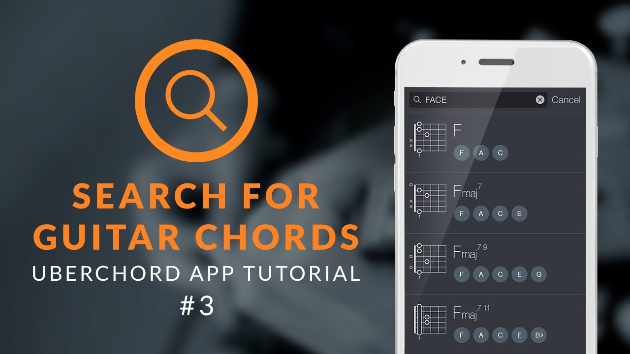 Uberchord App Tutorial 3 Search For Guitar Chords Youtube