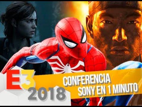 Conferencia Sony/PS4 en 1 minuto: E3 2018
