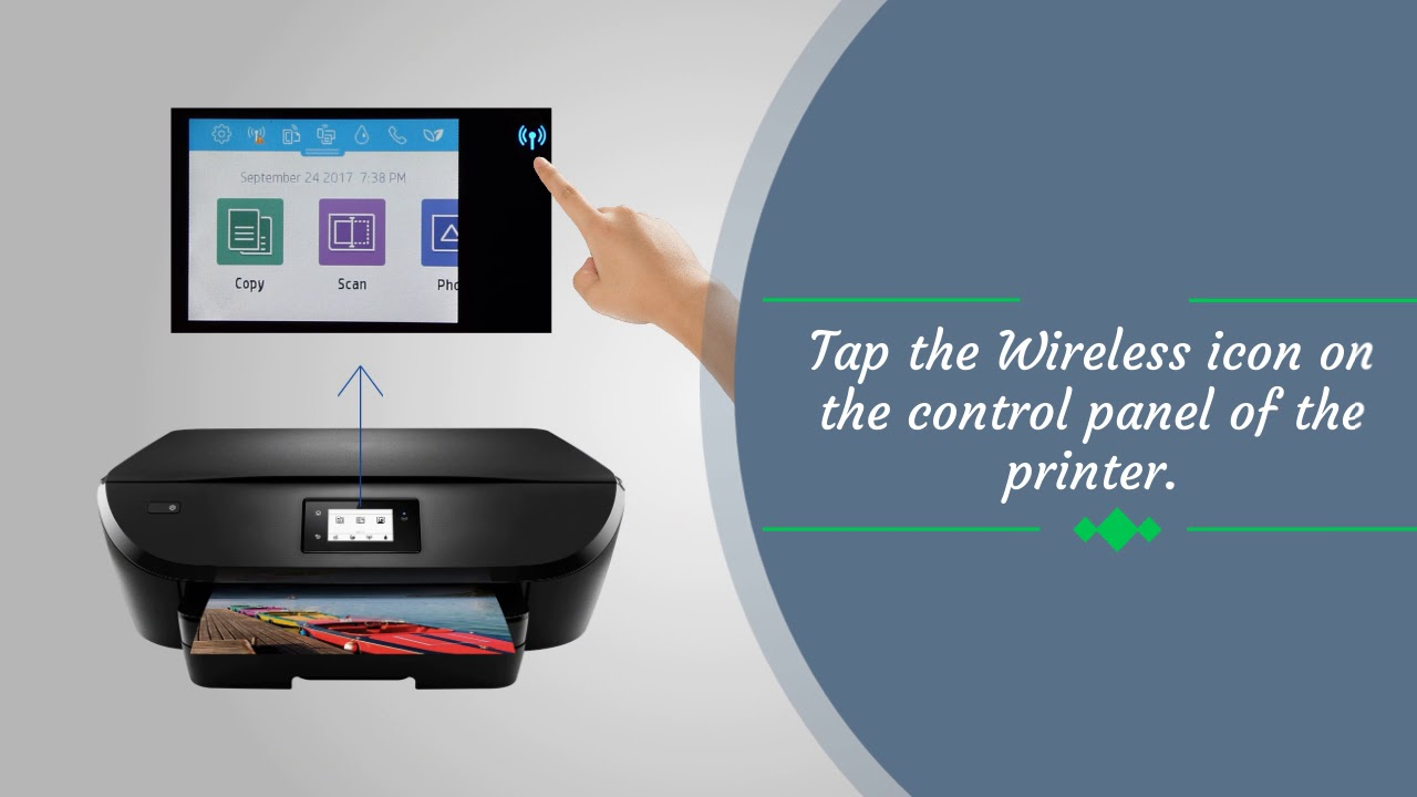 How To Connect A Wireless Hp Envy 5540 Printer To Computer