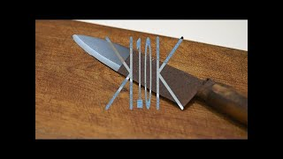 compressed into 10 seconds - How To Basic - How To Restore a Rusty Knife