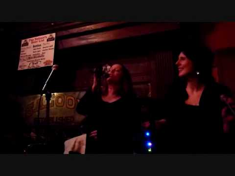 Cathy Lemons and Jan Fanucchi sing at Saloon 4-8-10