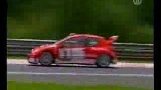 Peugeot 206 wrc test in nurburgring (2003) by Gilles Panizzi