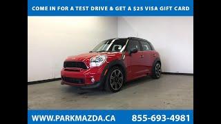 RED 2014 MINI Cooper Countryman  Review Sherwood Park Alberta - Park Mazda
