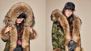 Роскошная Женская Зимняя Куртка. Парка. Енот.