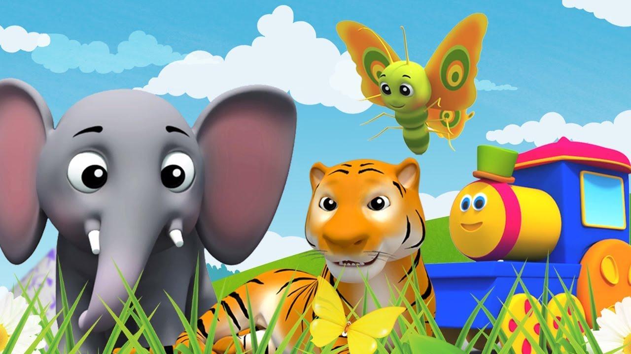 รถไฟบ๊อบเรียน ABC |  เพลง 3D ตัวอักษรสำหรับเด็ก  | Bob Abc Song | Bob Animal Abc