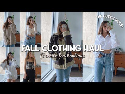 FALL CLOTHING HAUL 🍂 ft White Fox Boutique   Wardrobe staples
