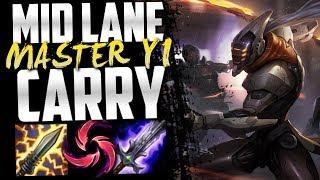 Master Yi mid lane destroys NA Challenger!