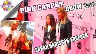 GLOW STUTTGART pink Carpet  🤩 Stars SARAH HARISSON HAUTNAH TREFFEN  😍 Mileys Welt & Family Fun