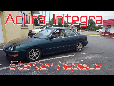 Acura/honda integra/civic 1.8 1.6 how to Removed/install a starter