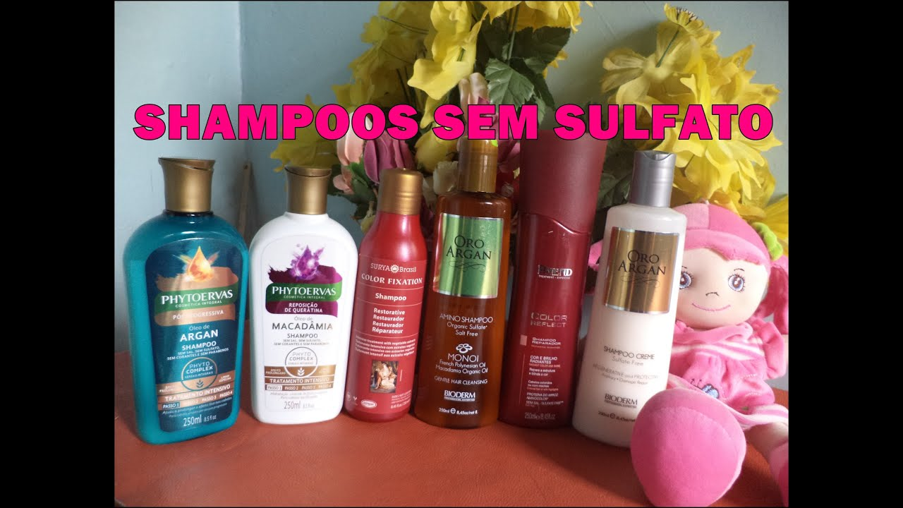 Suficiente 6 Dicas de SHAMPOO SEM SULFATO + Bate papo sobre sulfatos no  FN62