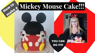 How to make a Mickey Mouse Cake l Beginner Cake Decorating Tutorial l Mickey Mouse Smash Cake