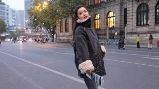 여성 겨울 뽀글이 퍼 청자켓 캐주얼 집업 데님 청 털자…