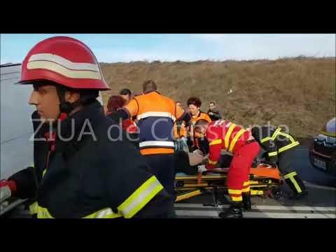 Accident rutier grav cu persoane încarcerate între Ovidiu şi Mihail Kogălniceanu (I)