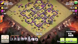 Clash of Clans TH8 GOWIVA Clan War Attack vs. TH8