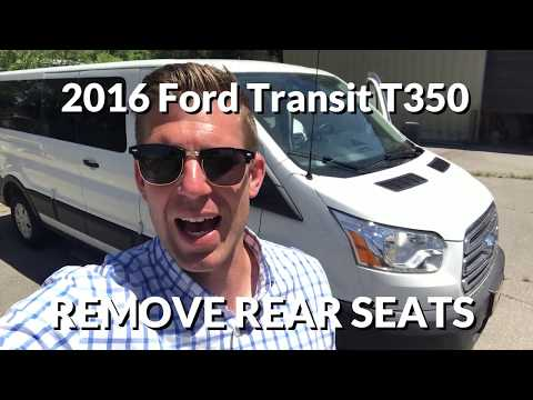 How to Remove Rear Seats in Ford Transit - 3 Step Process!