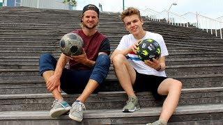 Idag har jeg Rasmus Brohave med, som skal teste sine fodbold skills...