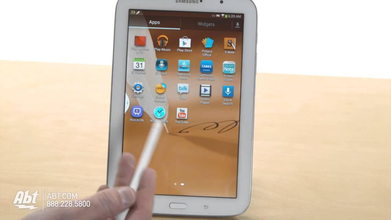 Samsung GTNZWYXAR GB White Galaxy Note WiFi Tablet - Abt samsung