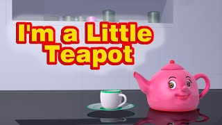 I'm a Little Teapot Nursery Rhyme | Kids Song | Infobells