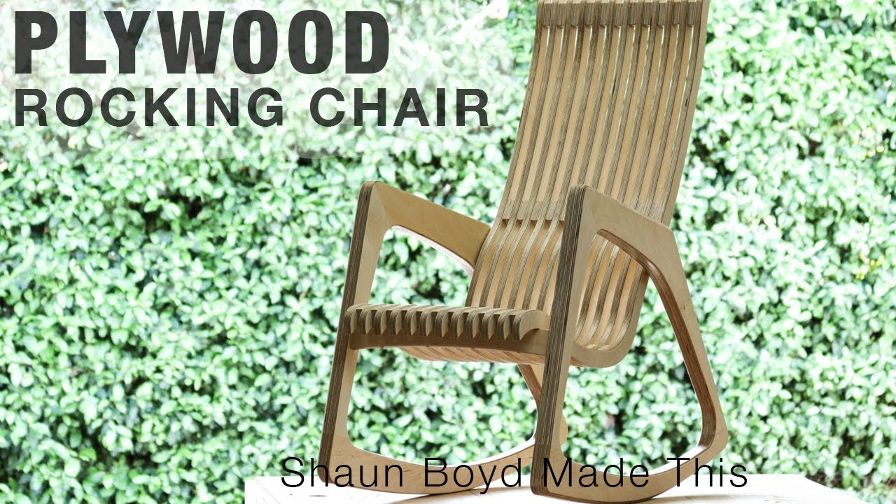 Free Rocking Chair Plans Building A Modern Plywood Rocking Chair From One Sheet Rocklerplywoodchallenge