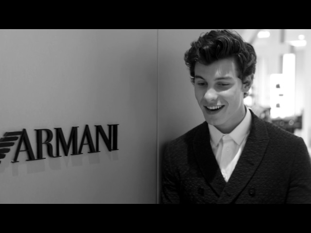 Emporio Armani - 2018 Spring Summer - Menswear Collection - Post Show Interview with Shawn Mendes