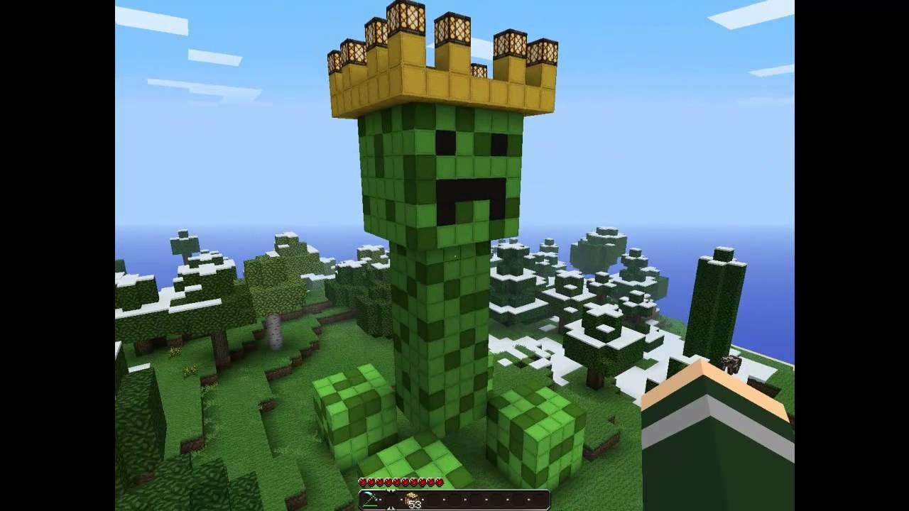Minecraft gebouwen 2 creeper standbeeld youtube - Huis van de wereld lantaarnpaal ...
