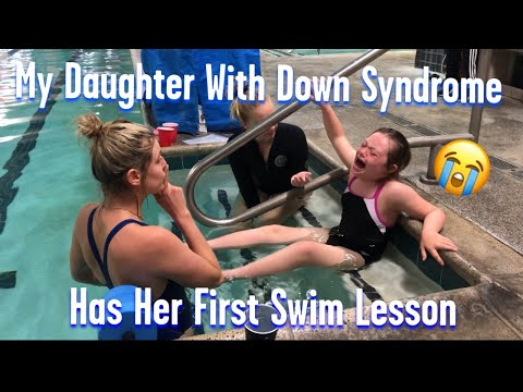 My Daughter With Down Syndrome Has Her First Swim Lesson #do