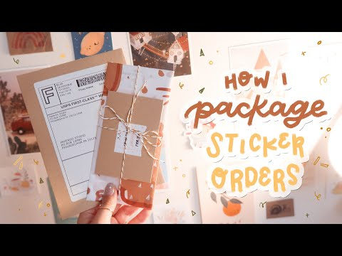 ETSY SERIES | UPDATED How I Package Etsy Orders For My Sticker Shop