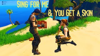 I gifted people who sang for me on Fortnite!! SInging on Fortnite