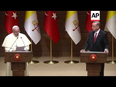 Pope Francis and Turkish President Erdogan hold news conference