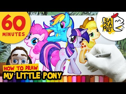 60 MINUTES of MY LITTLE PONY DRAWINGS | How to Draw MLP Characters | BLABLA ART