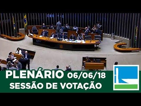 PLENÁRIO - Sessão Deliberativa - 06/06/2018 - 14:00