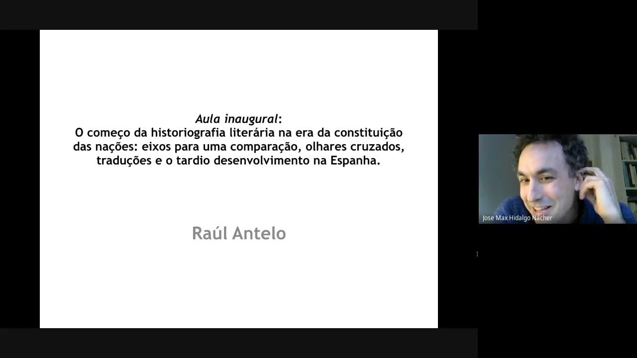 """Download Aula inaugural """"O começo da historiografia literária na era da constituição das nações"""""""