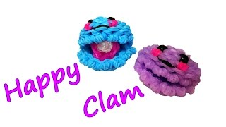 Happy Clam Tutorial by feelinspiffy (Rainbow Loom)