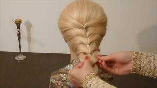 Super einfache Frisur selber machen für mittel/lange Haare:Schule/Alltag.Easy Hairstyles.Peinados