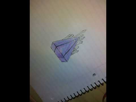 Series:Follow along drawing: drippy diamond and graffiti spray paint can character ep.1