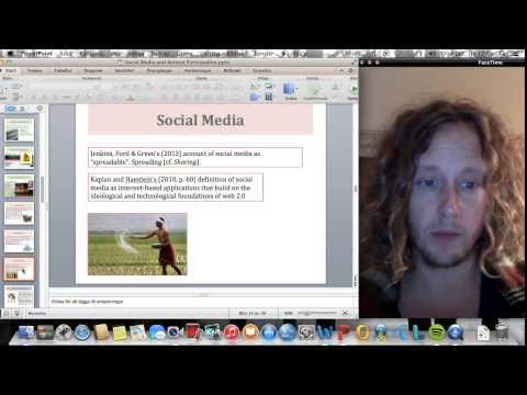 social media and activist participation