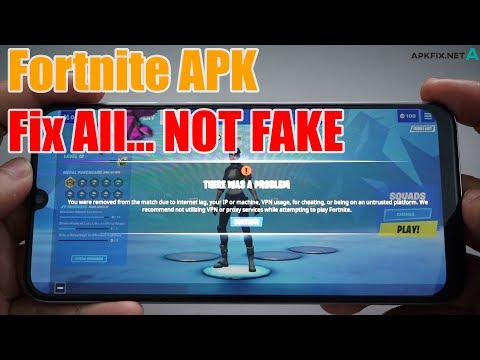 Fortnite APK Fix All Device Not Supported | Bus Kick  | VPN | Lag...