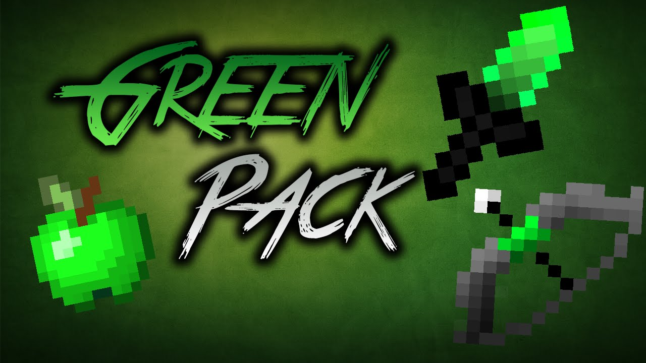 Minecraft Green PvP UHC Texture Pack 16x16 (1.7+ Short