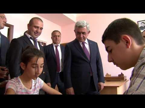 Սերժ Սարգսյանի այցը Աշտարակ