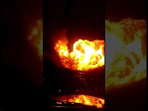 Взрыв на НПЗ в Ухте