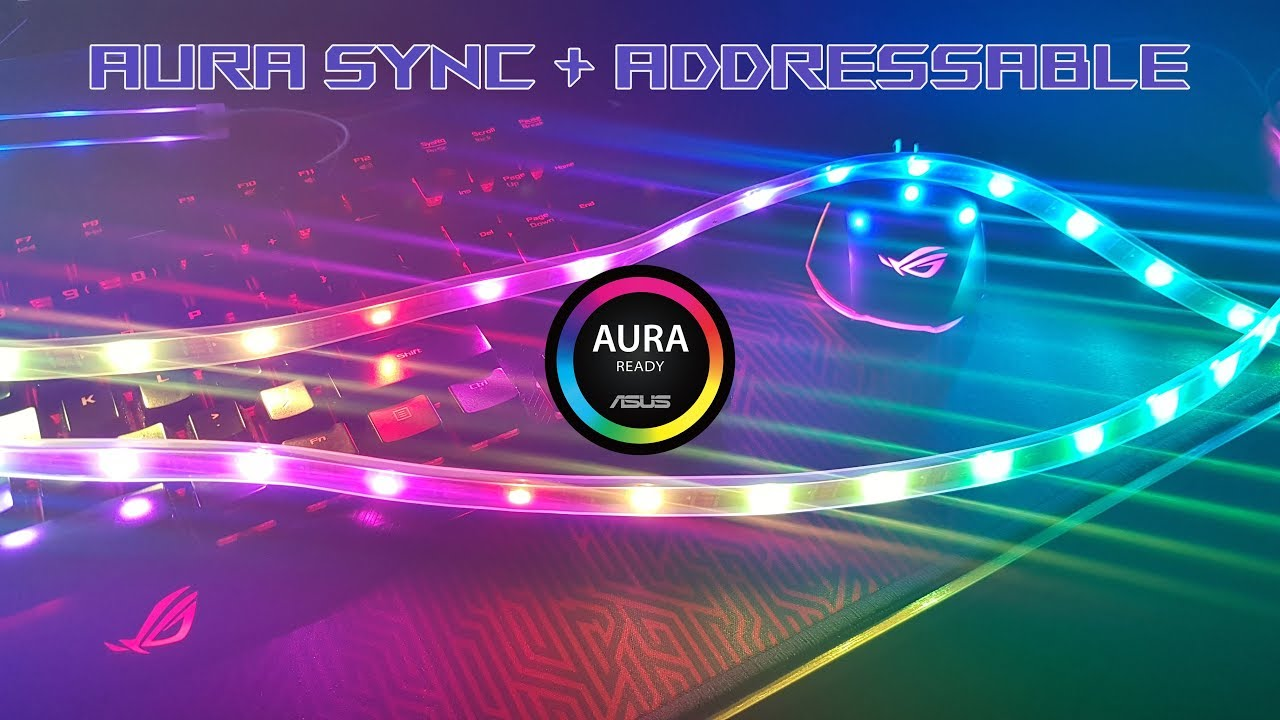 Controlling WS2812B Addressable RGB LED strips on ASUS Aura Sync Software