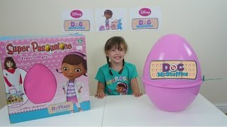 Doc Mcstuffins video | Giant Pink Surprise Egg | Doc Mcstuffins toys | The Disney Toy Collector