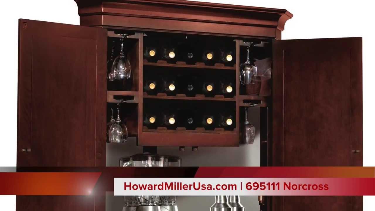 Howard Miller Wine & Bar Corner Cabinet | 695111 Norcross - YouTube