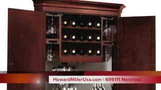 Howard Miller Wine & Bar Corner Cabinet | 695111 Norcross