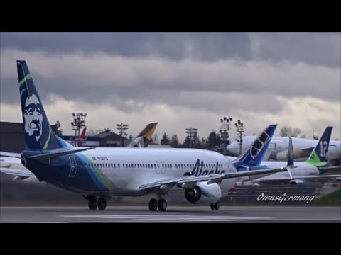 New Alaska Airlines Livery Boeing 737-900 Delivery Flight @ KPAE Paine Field
