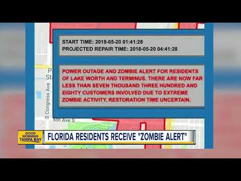 Florida city issues 'Zombie Alert' to residents during power outage