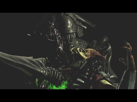 "Mortal Kombat XL - Alien ""Killer Queen"" / ""Deadly Hybrid"" Fatalities on All Characters / Fighters"