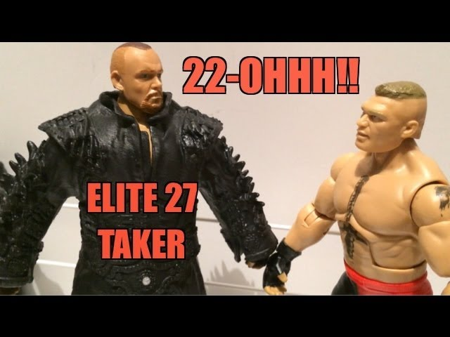 WWE ACTION INSIDER: The Undertaker Elite series 27 Mattel wrestling figure WRESTLEMANIA 29 Attire Travel Video