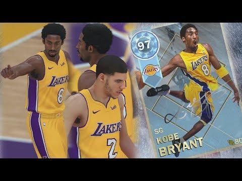 NBA 2K18 My Team - Pulled Diamond Kobe! Lonzo Lobs! PS4 Pro 4K Gameplay