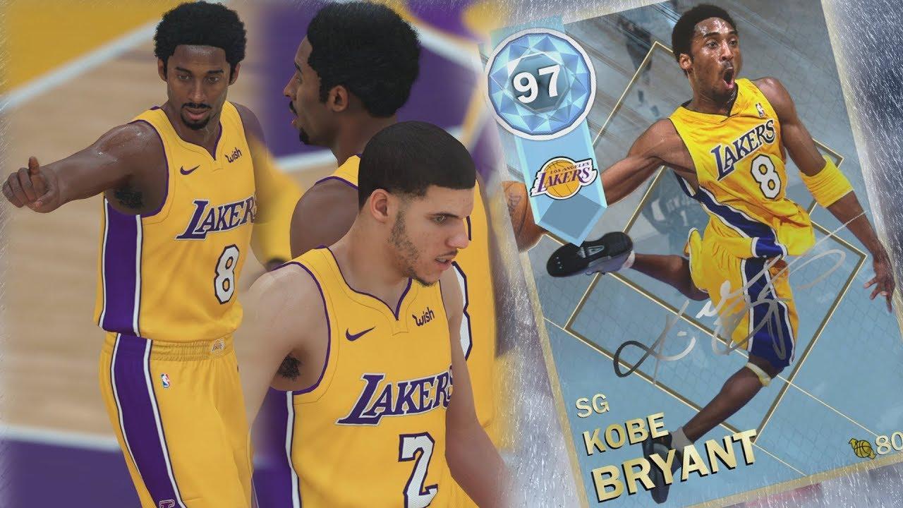 NBA 2K18 My Team - Pulled Diamond Kobe! Lonzo Lobs! PS4 Pro 4K Gameplay 5b89550b1